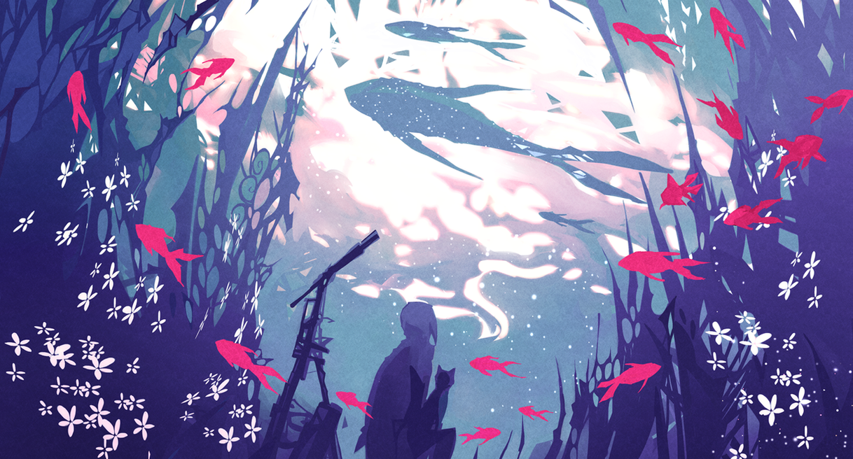 Drowning Under The Milky Way by NanoMortis