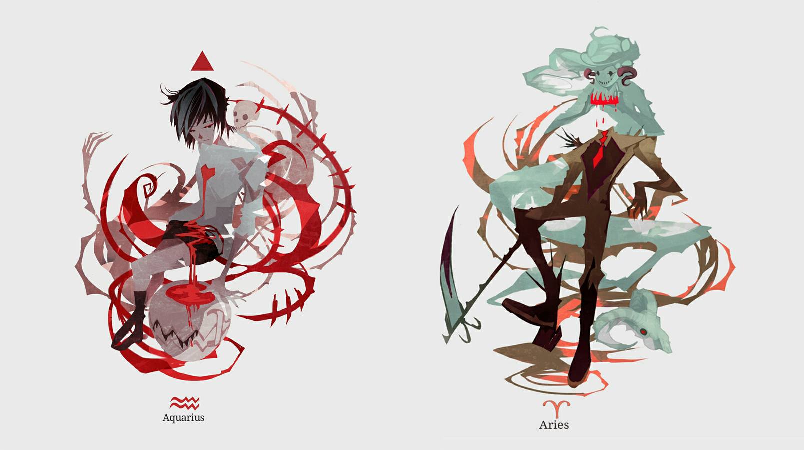 Horrorscope : Aqua /Aries by NanoMortis