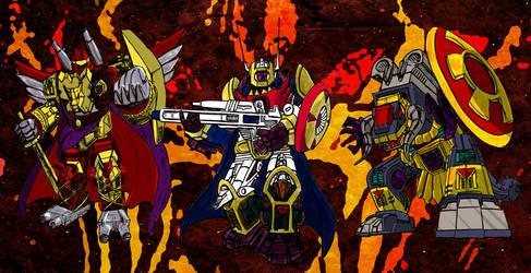 Three Destron Demon Generals