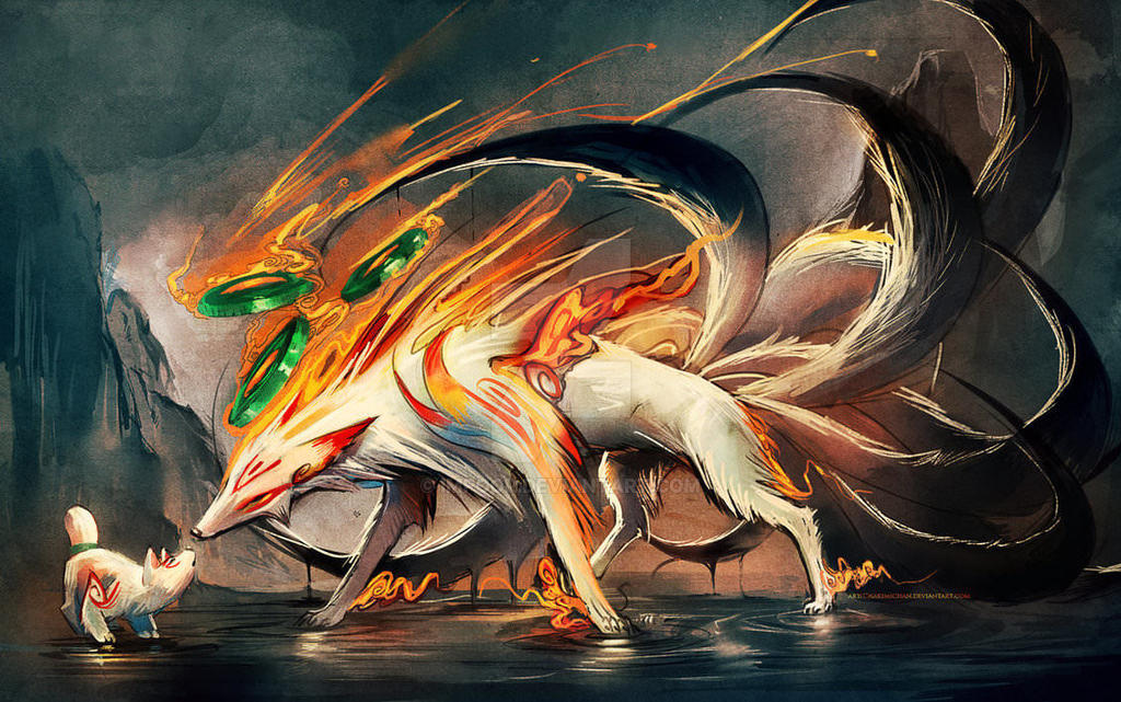 Sakimichan Nine Tailed Fox Naruto Fan Art Anime Ma By Impoor On Deviantart