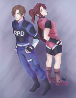 Claire and Leon