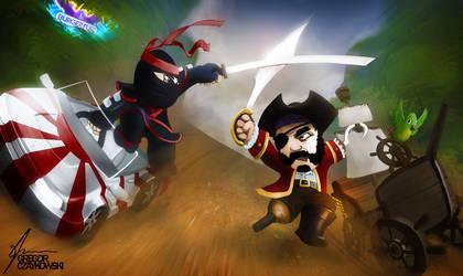 Pirate versus Ninja