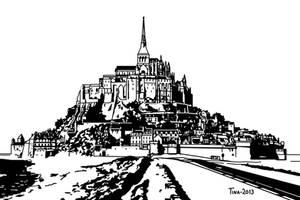 Mont Saint-Michel by Asynja
