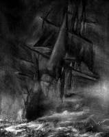 Ship in Storm by Asynja