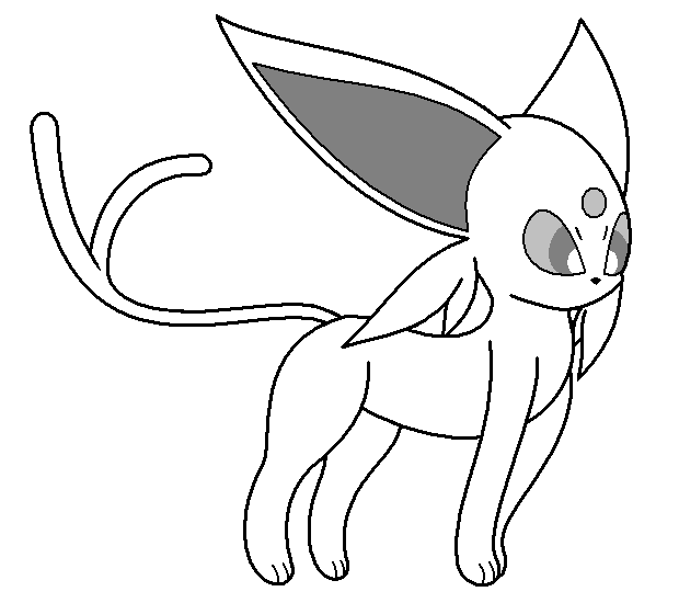 espeon pokemon coloring pages - photo#29