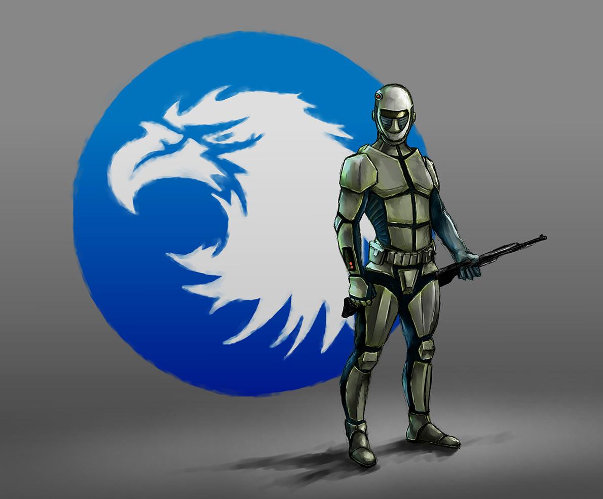 NGO Boardgame: Hawkland Faction concept art by davicazu
