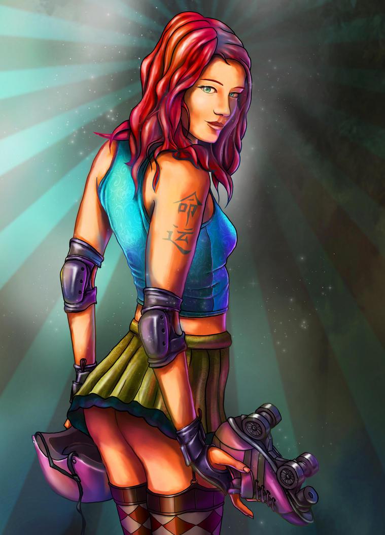 Roller Derby Girl by davicazu