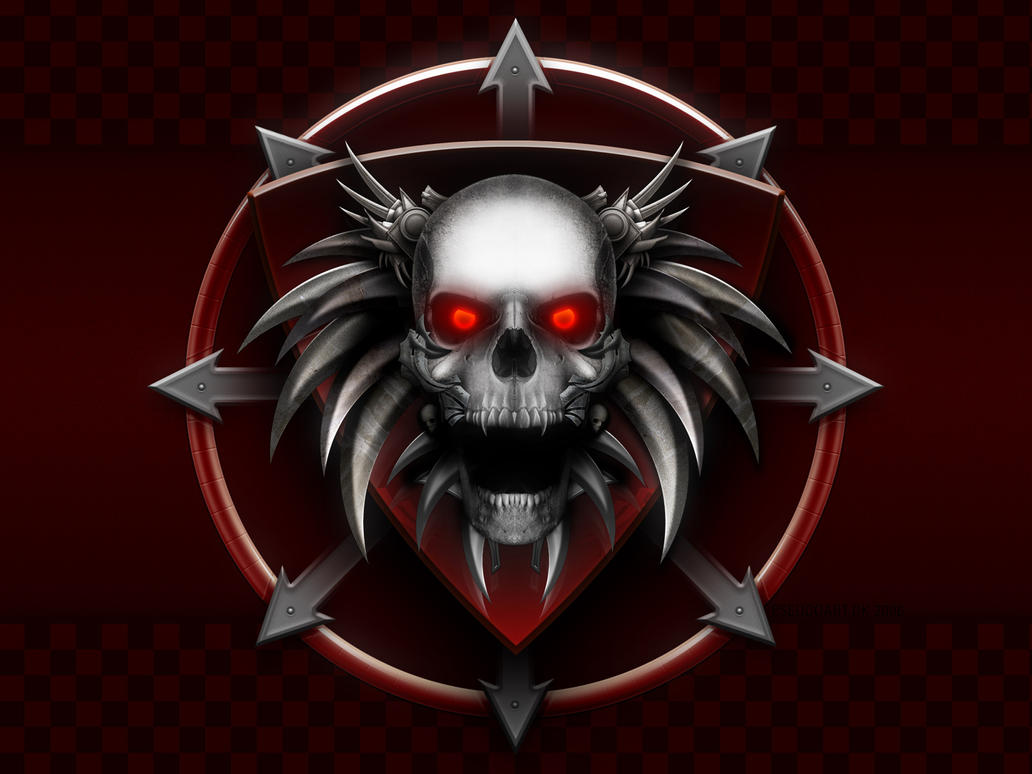 Chaos skull by jake on DeviantArt