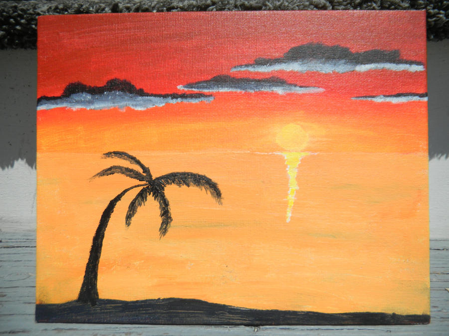 simple beach painting images