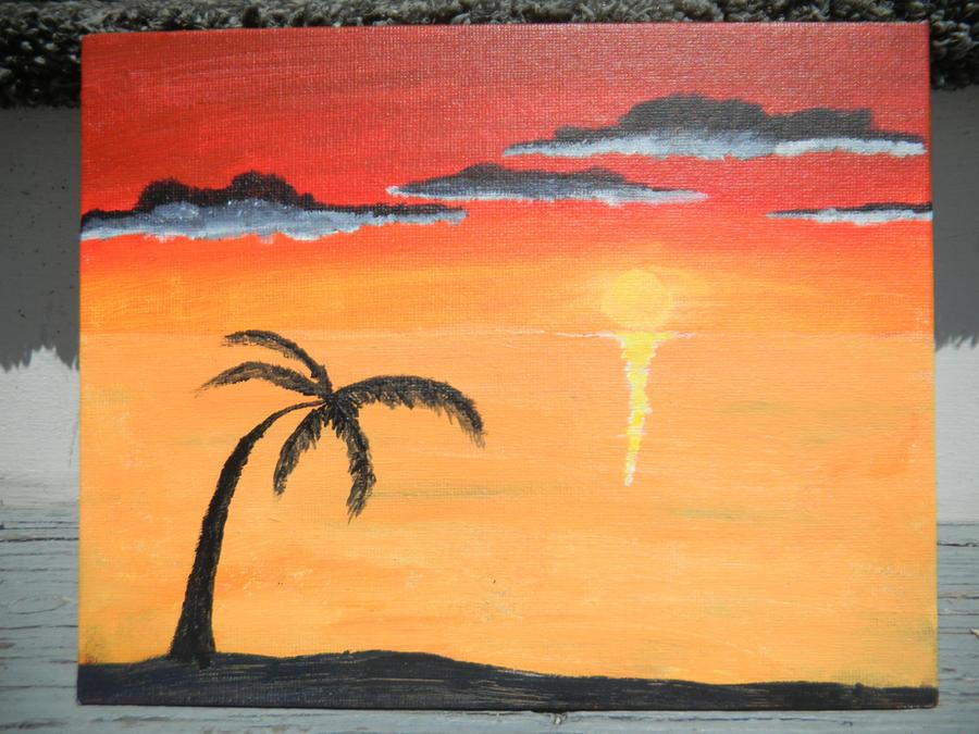 Simple Beach Sunset by Tehkneek on DeviantArt