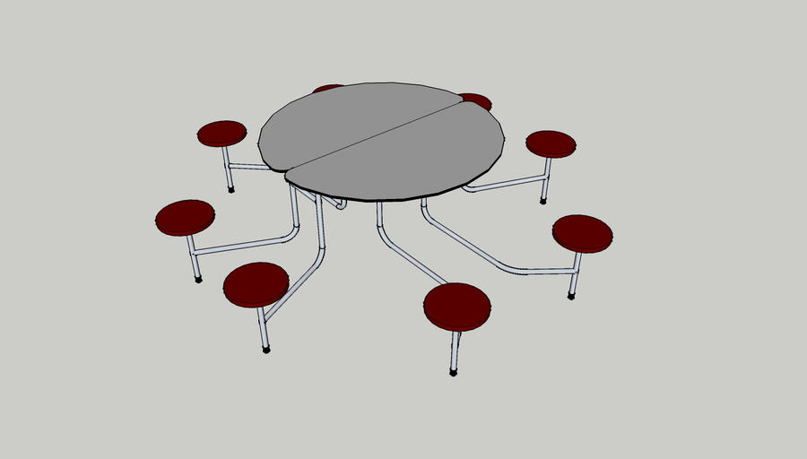 Round Cafeteria Table by Ra1nbowCrasH on DeviantArt