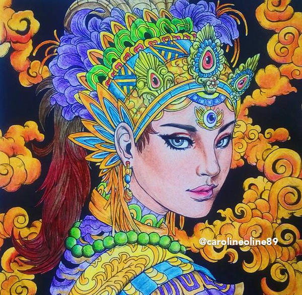 Fantasia Adult Coloring Book By Carolineanggraini