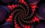 Black Silk Ribbon and Balloons by deepbluerenegade