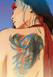 girl with tattoooo by ben35dan
