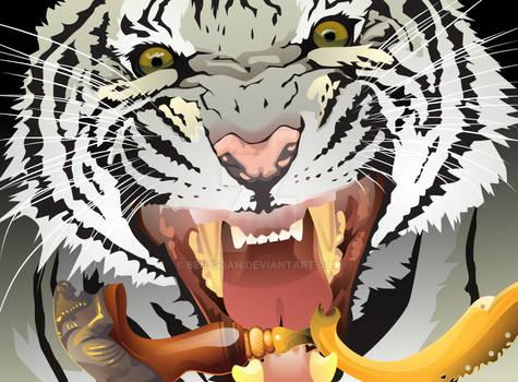 white tiger with kujang v2