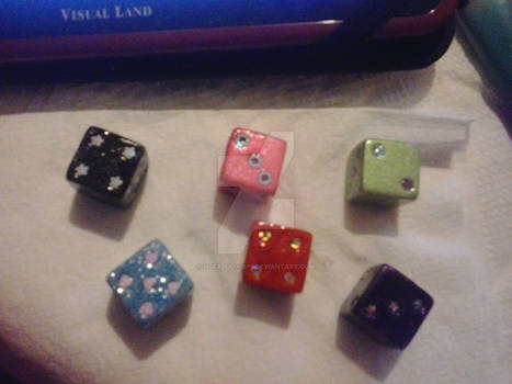 Hand-painted Dice