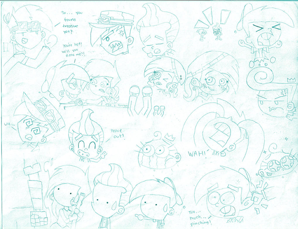 Anime Expressions Sketch by dannyfangirl