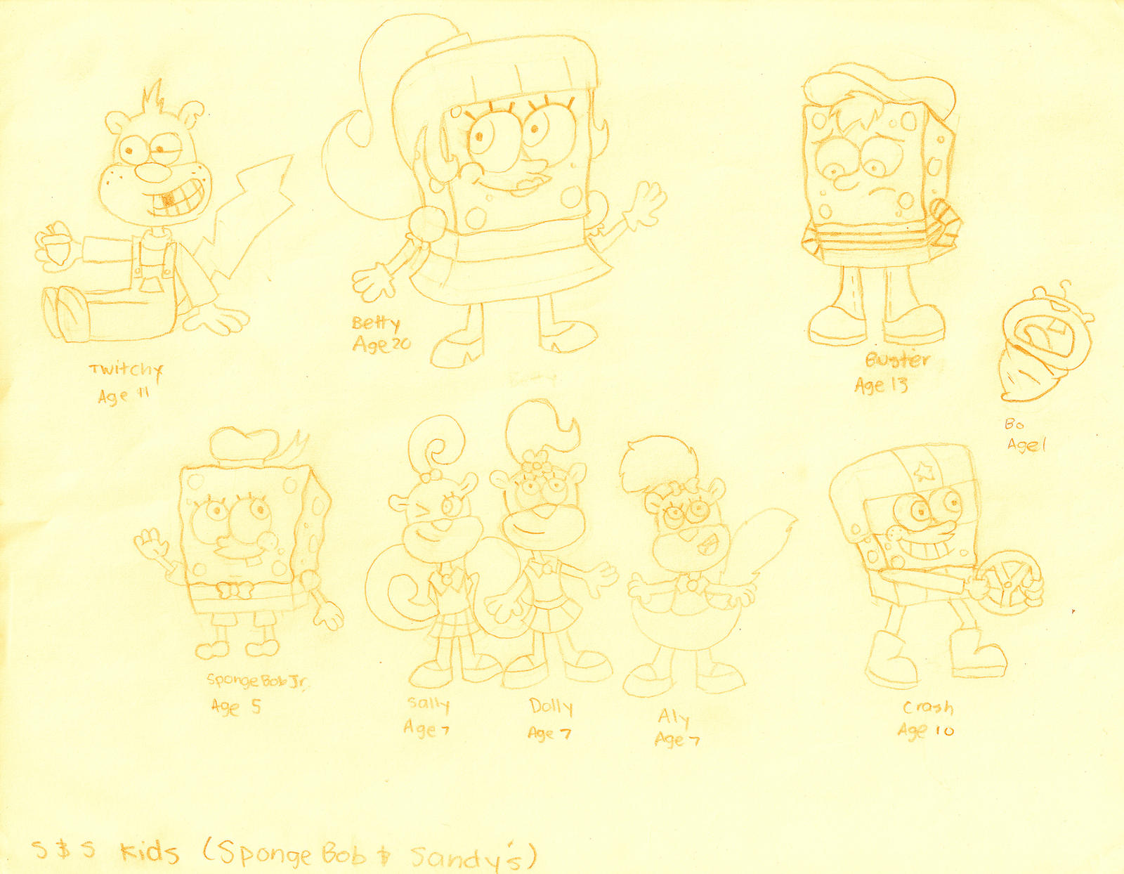 spongebob and sandy u0027s kids by dannyfangirl on deviantart