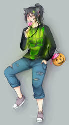 Maurice halloween thing by Spacegee
