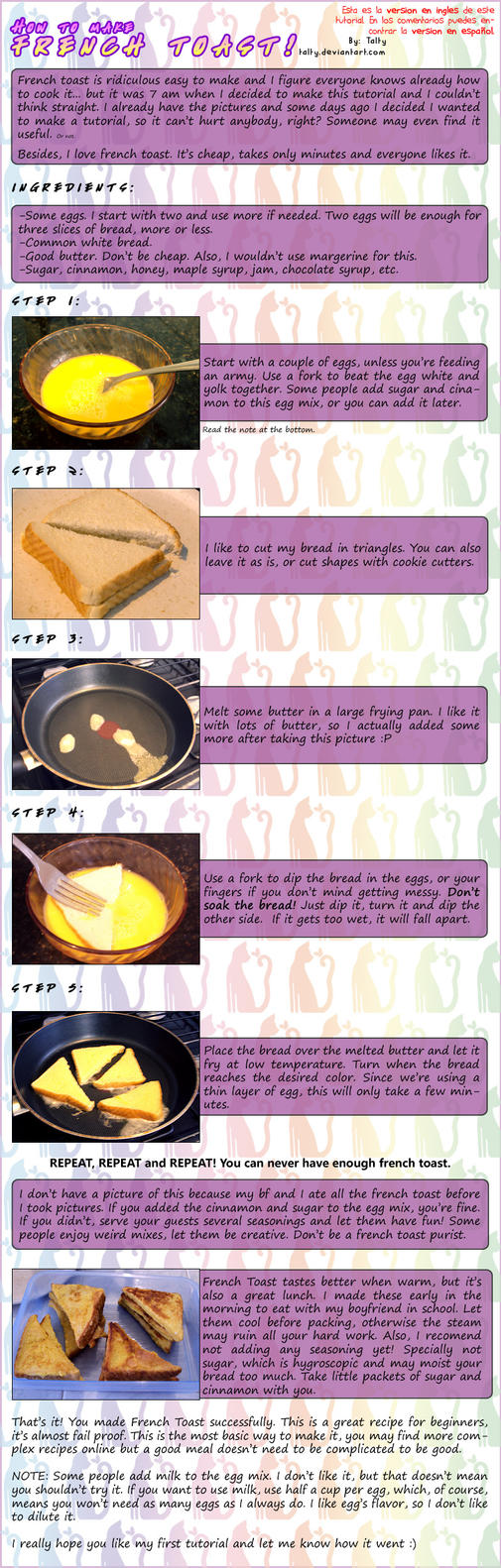 French Toast Tutorial by Talty