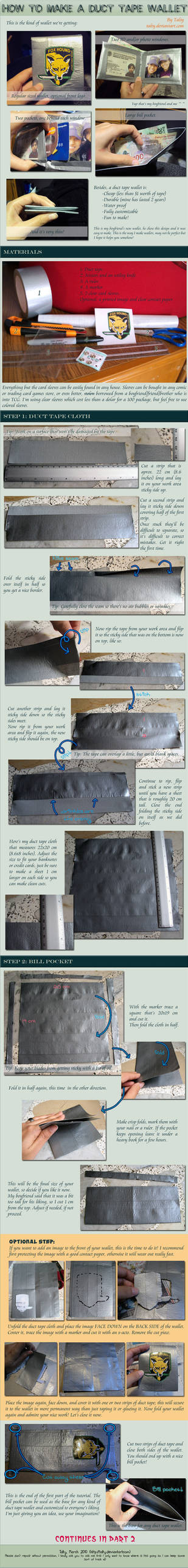 Duct Tape Wallet Part 1