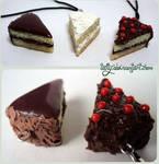Polymer clay chocolate kekes