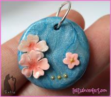 Minimalist Blue Pendant by Talty