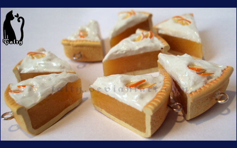 Polymer Clay Orange Pie by Talty