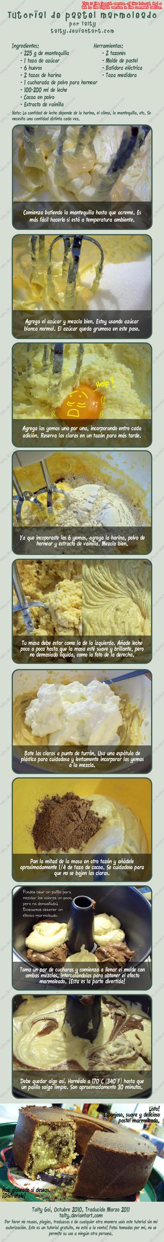 Tutorial de Pastel Marmoleado by Talty