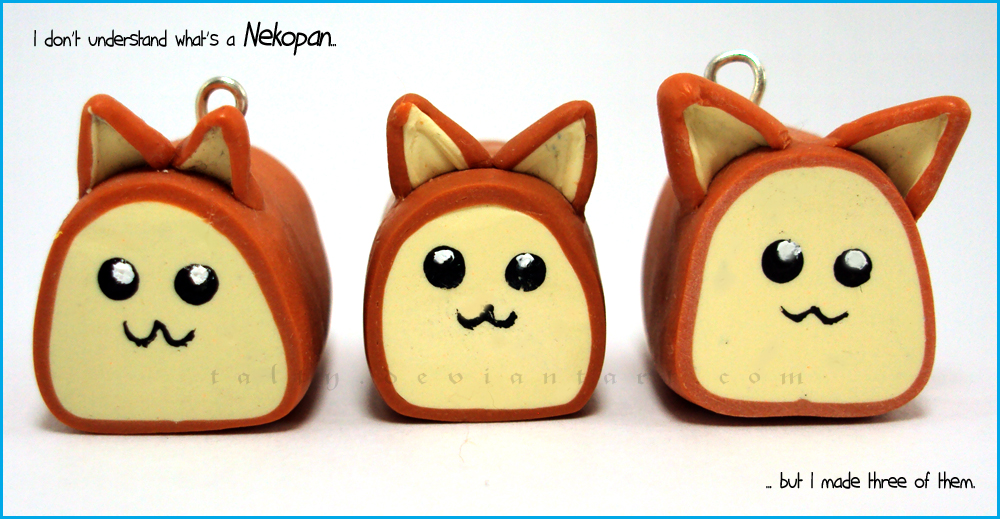 Polymer Clay Nekopan by Talty