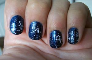 Starry Sky Nail Art