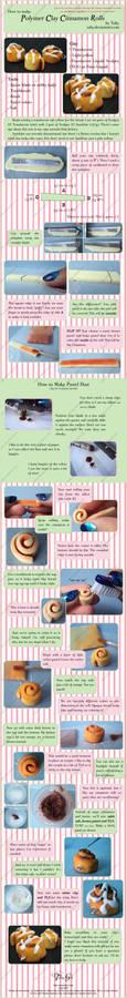 Polymer Clay Cinnamon Roll Tut