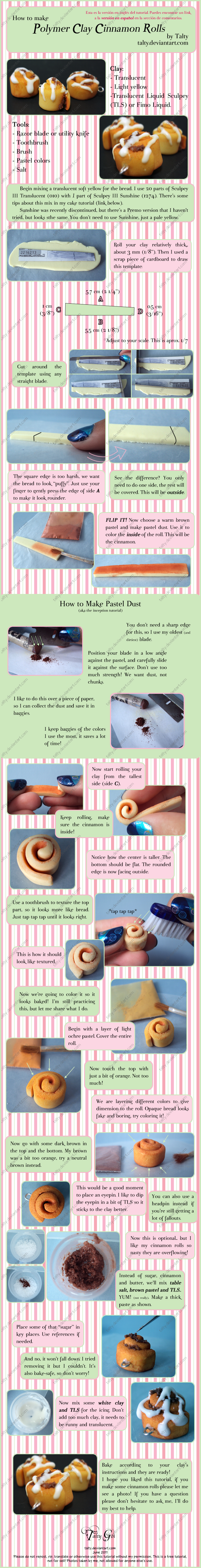 Polymer Clay Cinnamon Roll Tut by Talty
