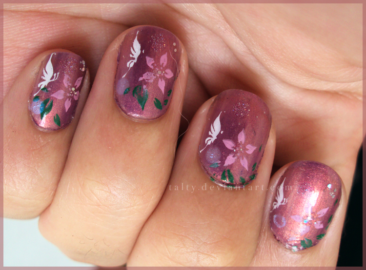 Enchanted Butterfly Nail Art