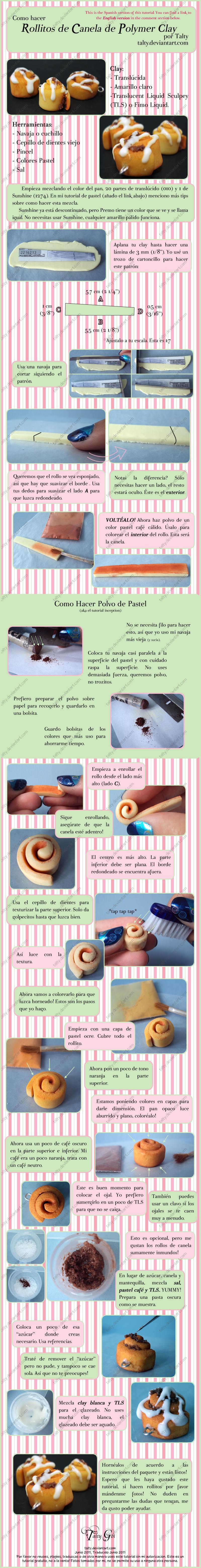 Rollo de Canela de Sculpey by Talty
