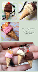 Polymer Clay Ice-Creams by Talty