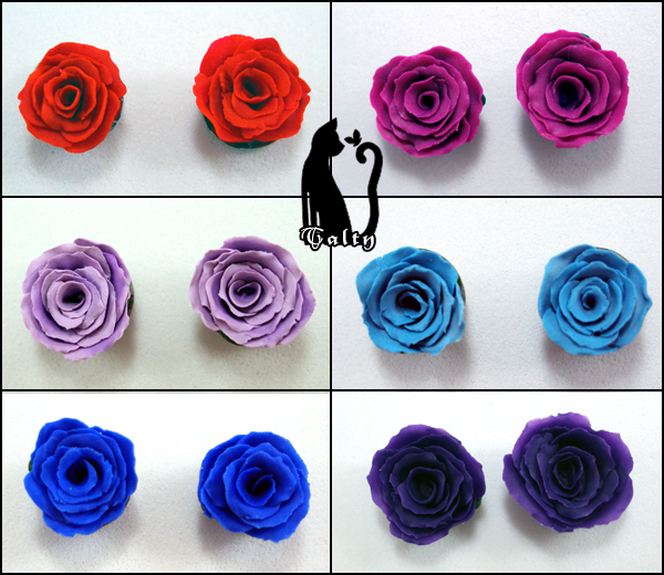 Bright Colored Roses by Talty