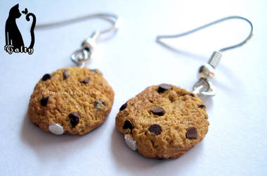 Polymer clay chocolate cookies
