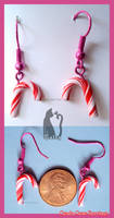 Clay Candy Cane Earrings