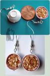 Polymer Clay Cinnamon Life Bowl Earrings
