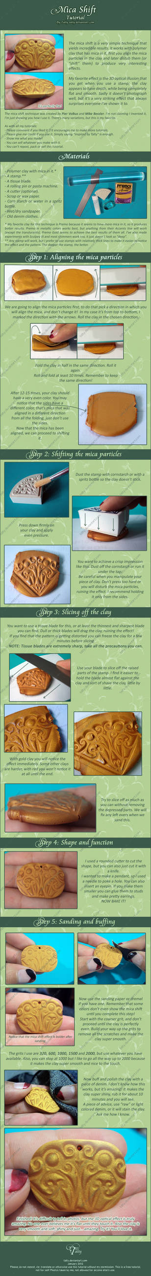 Mica Shift an Awesome Polymer Clay Technique by Talty