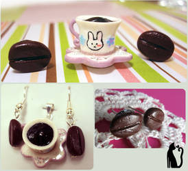 Polymer Clay Coffee Lovers Set by Talty