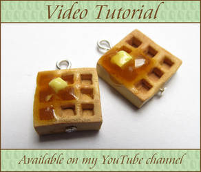 Polymer Clay Waffles Update and Video Tutorial by Talty