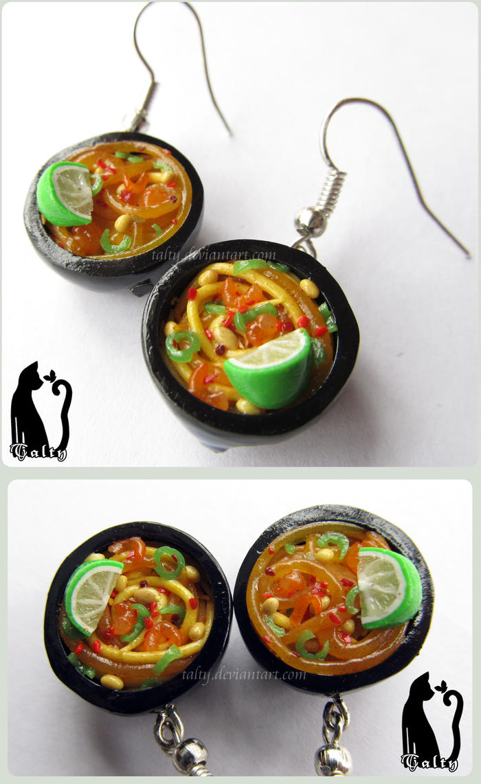 Mini Thai Ramen Bowls Earrings by Talty