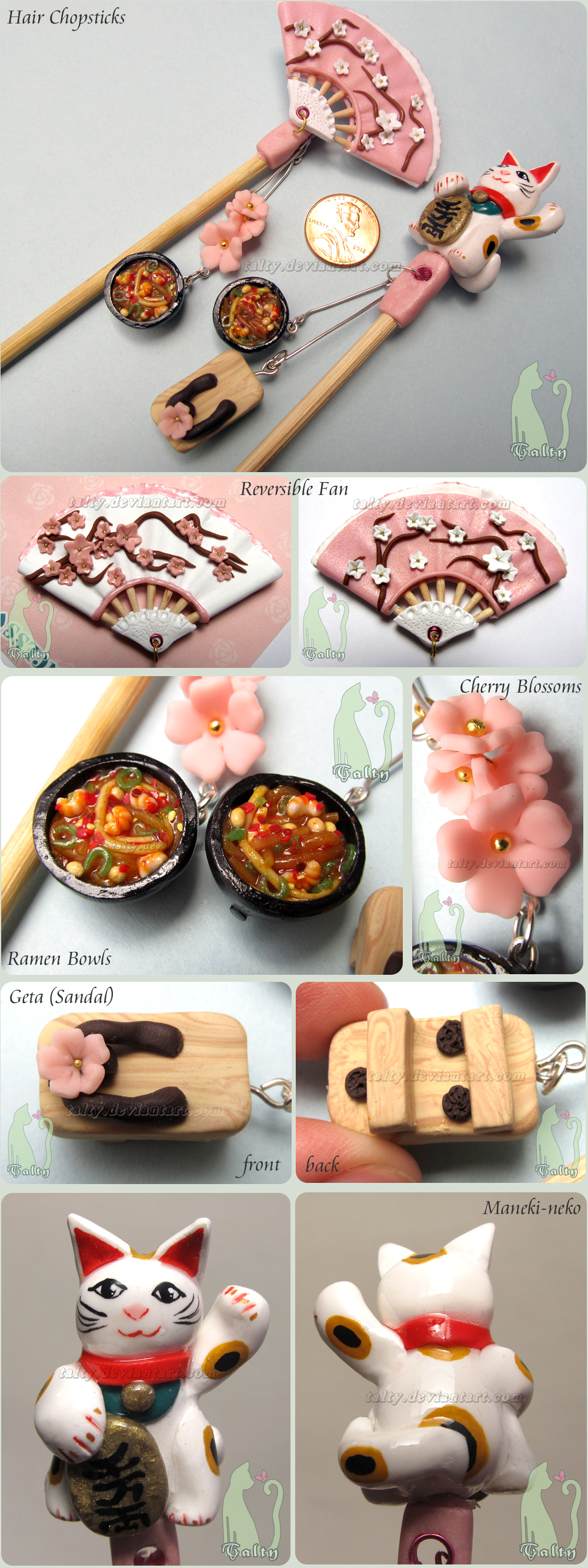 Polymer Clay Chopsticks by Talty