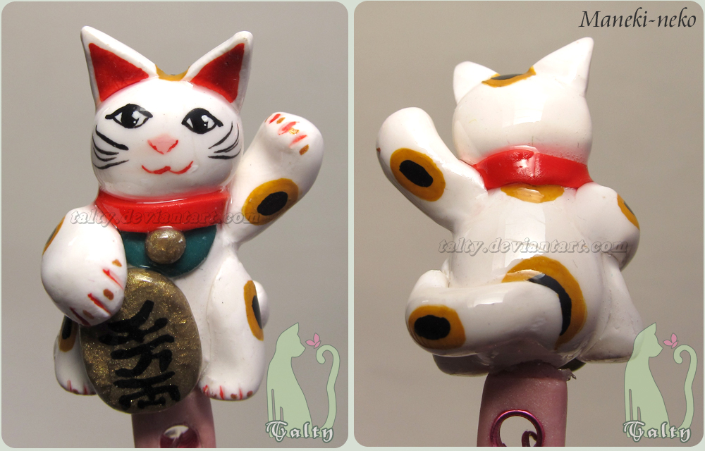 Polymer Clay Maneki-neko by Talty