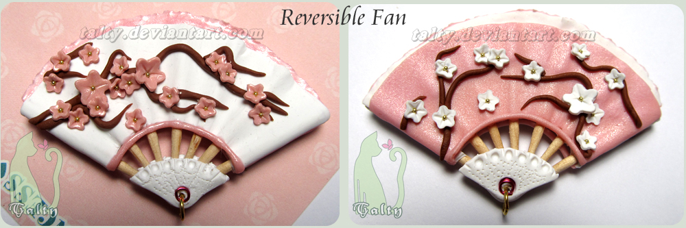 Polymer Clay Reversible Fan by Talty