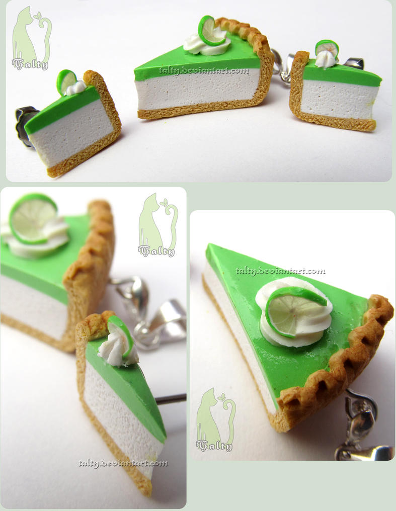 Key Lime Pie Earrings and Pendant Set by Talty