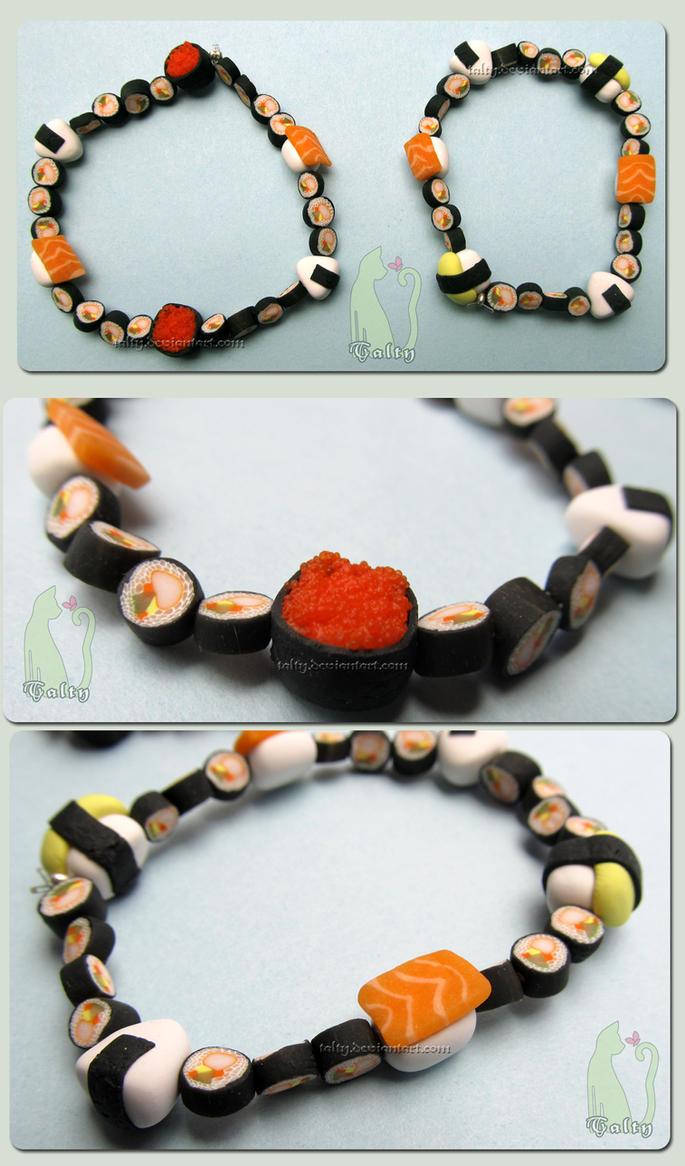 Maki Tamago Salmon Roe Onigiri Sushi Bracelet by Talty