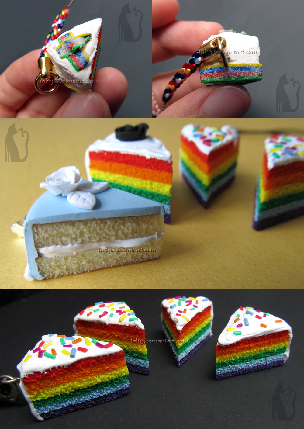 Rainbow Cakes by Talty